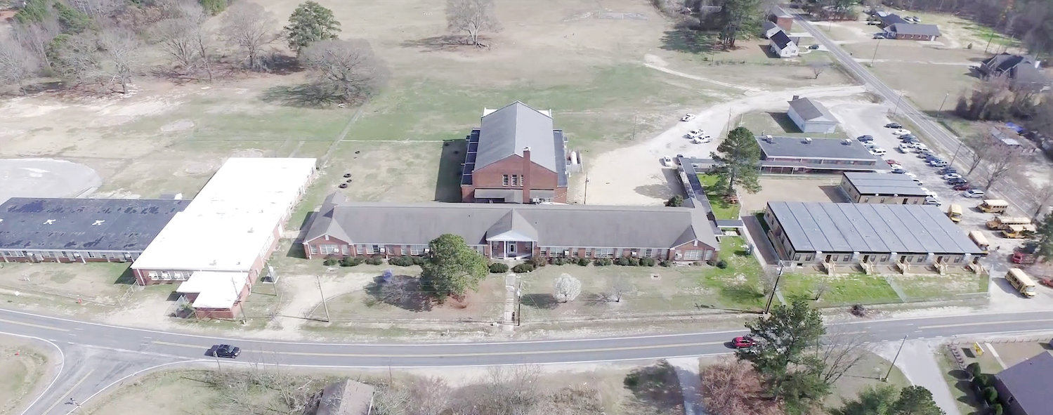 The Old Shawtown School, seen here prior to demolition of the gym and other buildings, has been renovated to house new tenants, including the Harnett County Sheriff's Office Police Athletic League and a new Boys & Girls Club. The tenants and the county are headed toward lease agreements later this year.