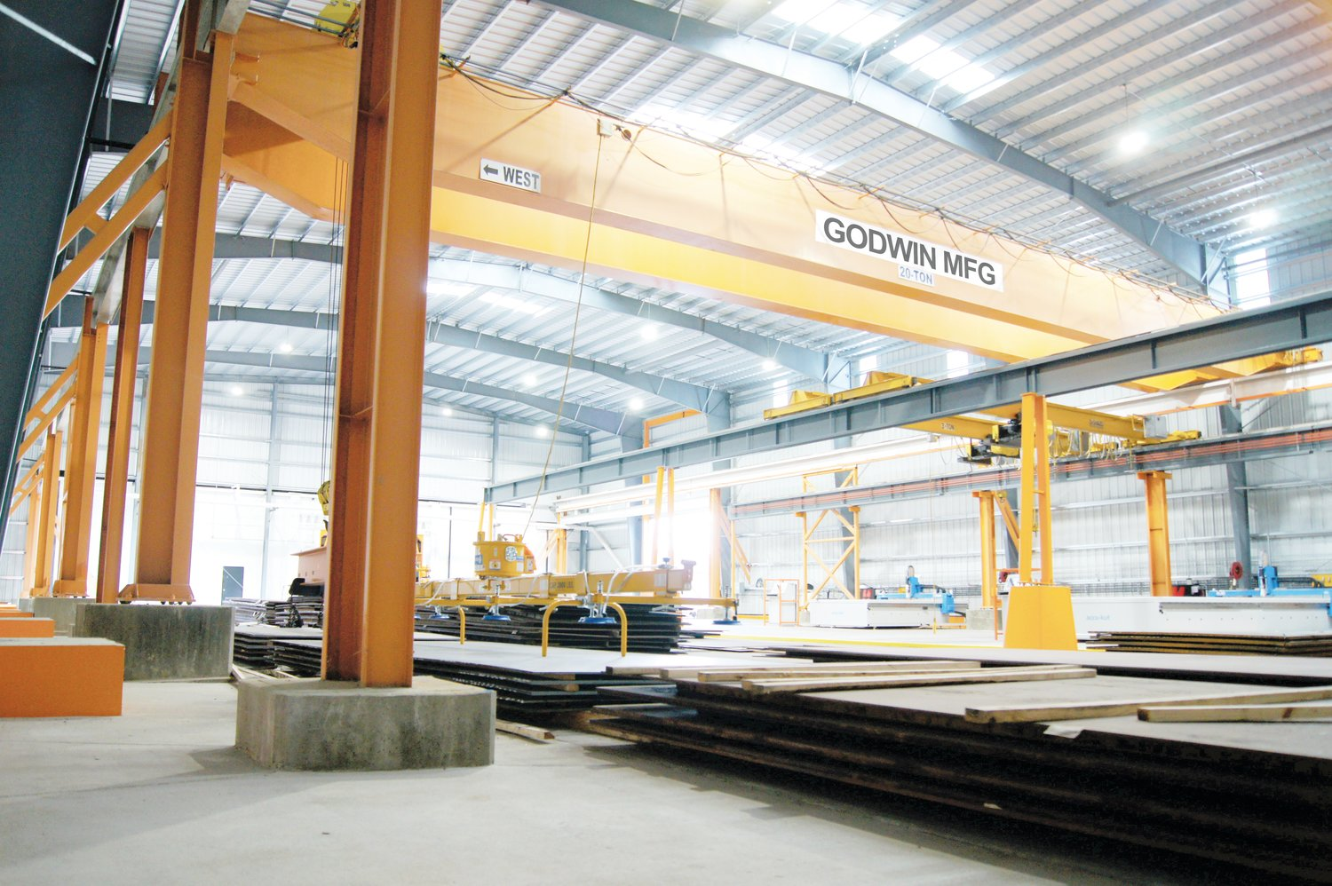 Pictured is an addition to Godwin's fabrication division.