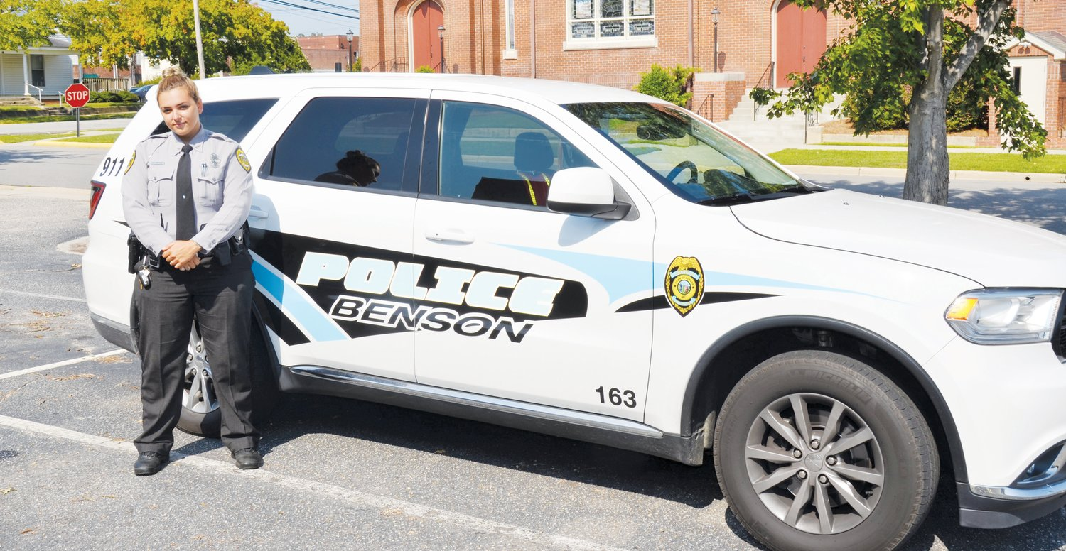 Benson Police Department has named a new Community Oriented Policing Services officer. Erin Sinclair has served on the department for nearly three years and is looking forward to the duties the job requires.