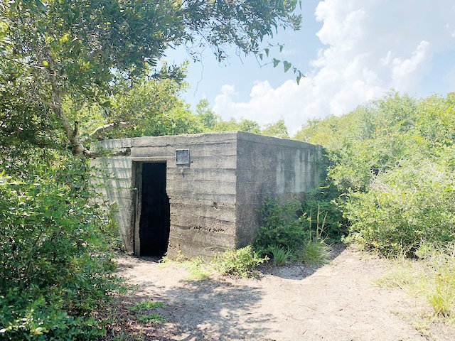 The Fort Fisher Hermit, Robert Harrill, lived in this World War II concrete bunker for 17 years.