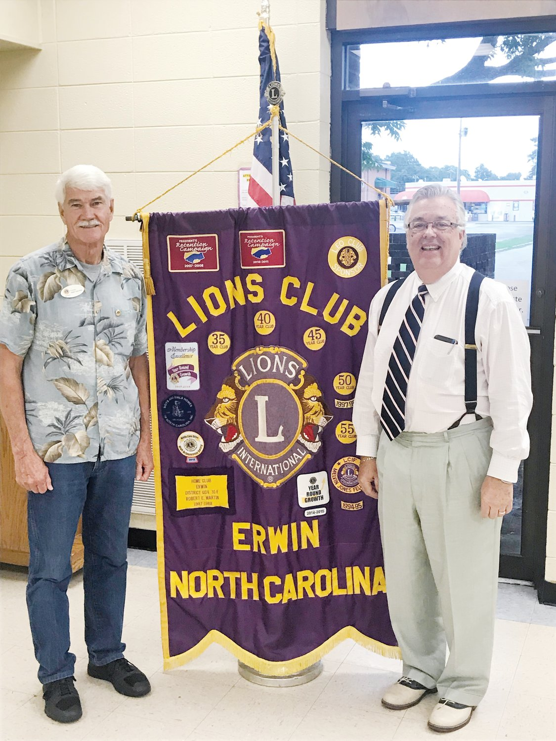 INS Lion zone chair visits Erwin club   The Daily Record
