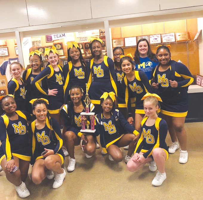 Mount Olive Middle cheerleaders place 3rd ..The Mount Olive Middle School cheerleading team places third at the Wayne County competition.