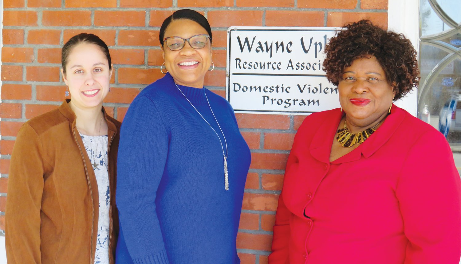Pictured from left are Rachel Rhodes, Linda Holden-Cox and Glenda  White. Wayne Uplift received a grant to support its Domestic Violence Victim support program which includes a 24/7 crisis hotline, support groups and a DV Victim shelter.