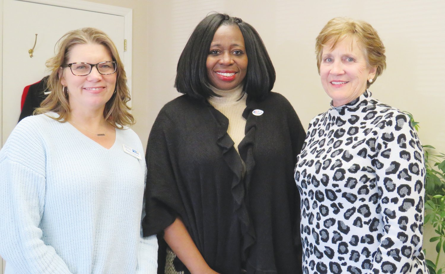 Pictured form left are Sherry Archibald, Patricia Beier and Brownie Doss. A United Way grant to WAGES' Elderly Nutrition Program supports a congregate feeding site in Mount Olive and Meals on Wheels for homebound seniors who are under 60.