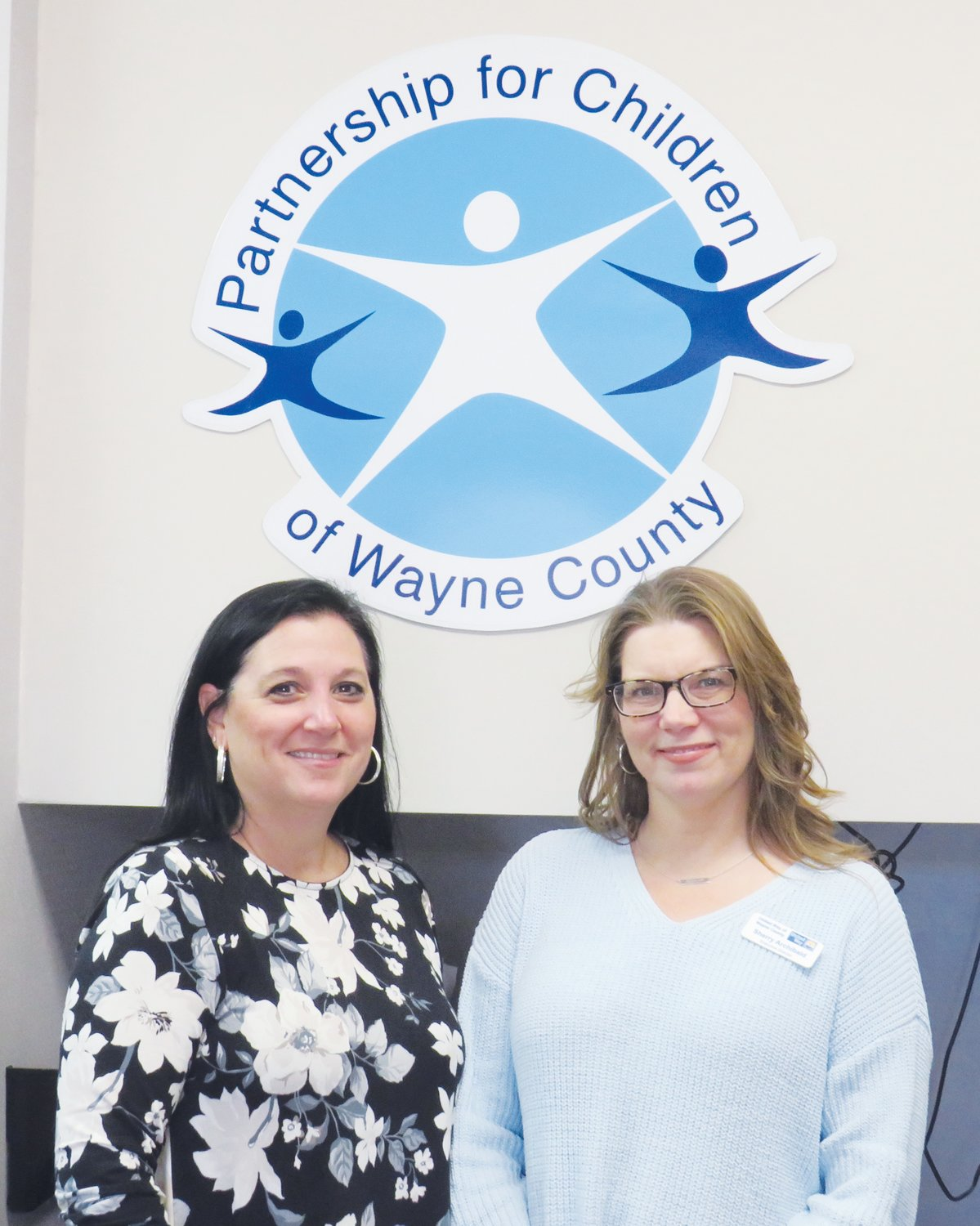 Pictured are Valerie Wallace of Partnership for Children of Wayne County and Sherry Achibald. The Partnership for Children received a grant to support Pregnancy Birth and Beyond, a free, comprehensive prenatal class for expectant mothers and their families.