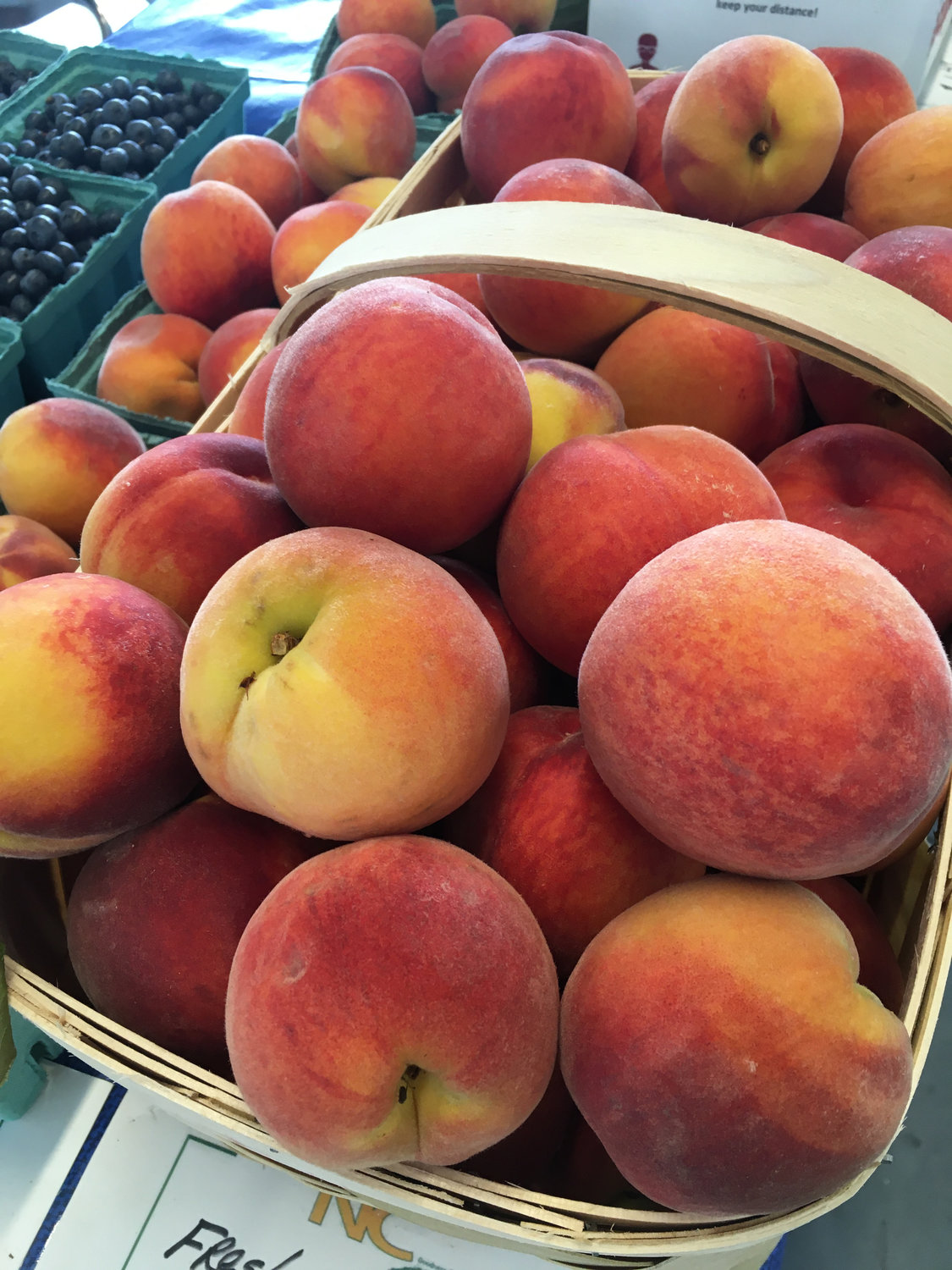 Peaches are seen here at the Farm Credit Farmers Market.