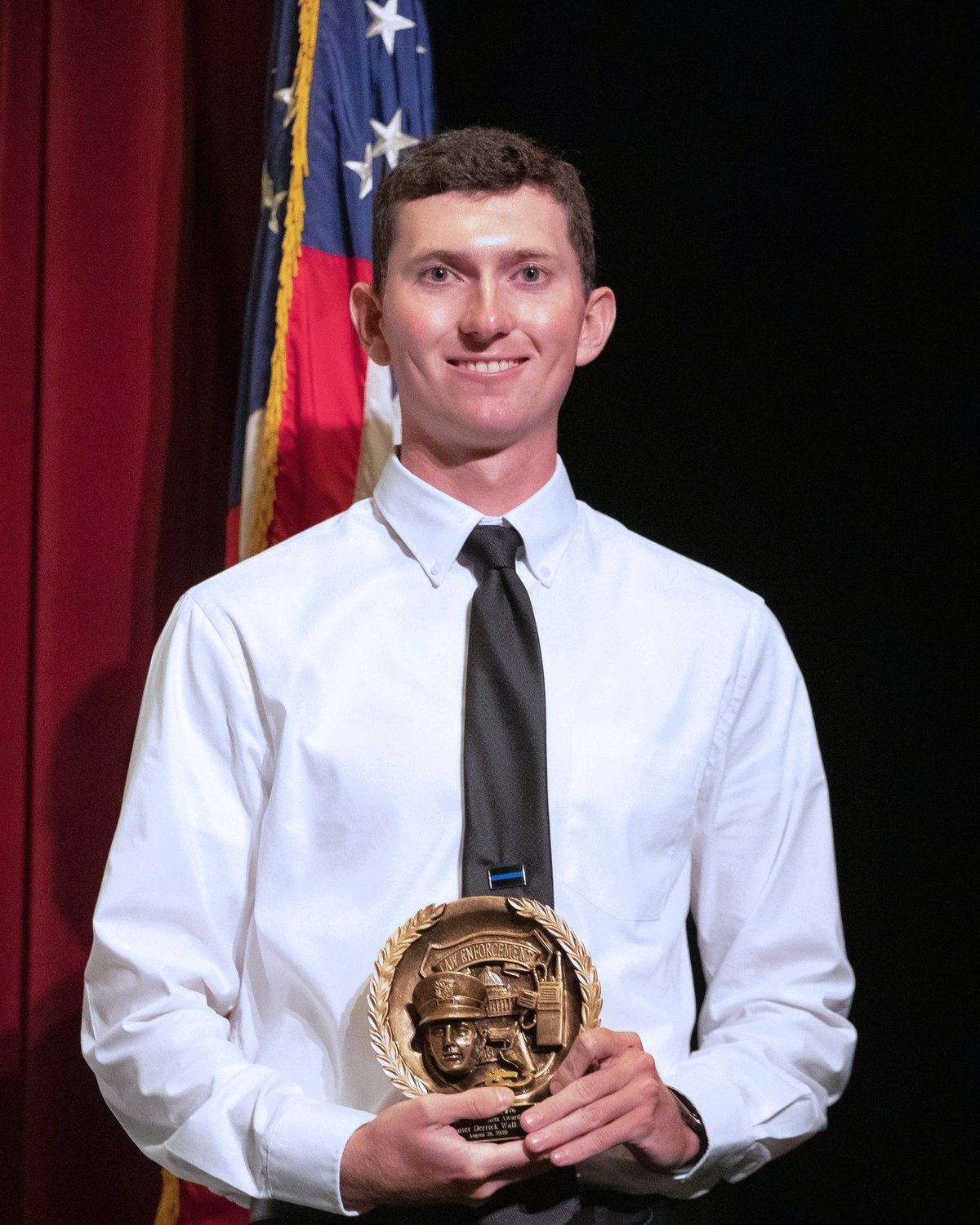 Hunter Walker of La Grange won the Physical Fitness Award for the 76th BLET class that graduated from Wayne Community College.