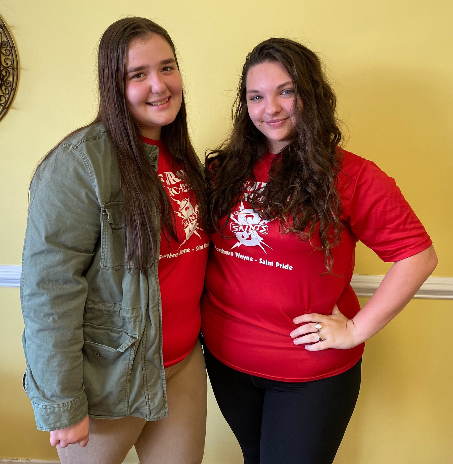 Southern Wayne seniors Cyerra Johnson, left, and Kayla Dearman have organized an annual Christmas and Toy Food Drive. Johnson and Dearman are members of the Southern Wayne Junior Air Force ROTC.
