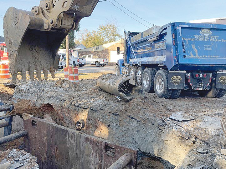The city replaced an 8-inch sewer line on Crescent Drive this month after discovering approximately 1,300 gallons of groundwater infiltrated the pipe every minute.
