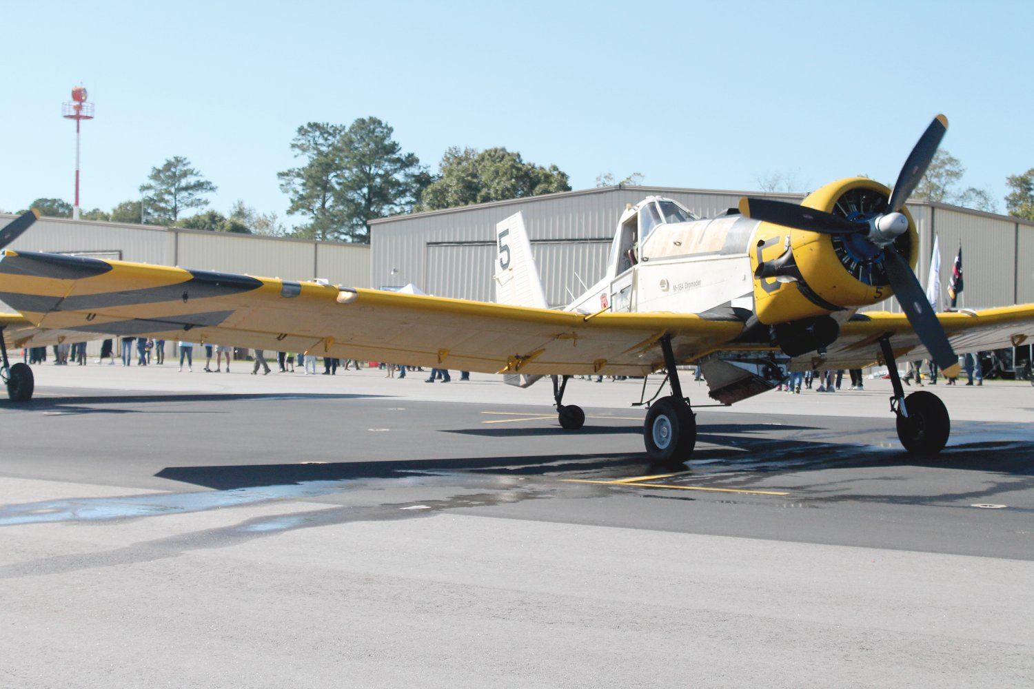 An airplane is on display at a Wings Over Harnett air show and open house in 2015 at the Harnett County Jetport.