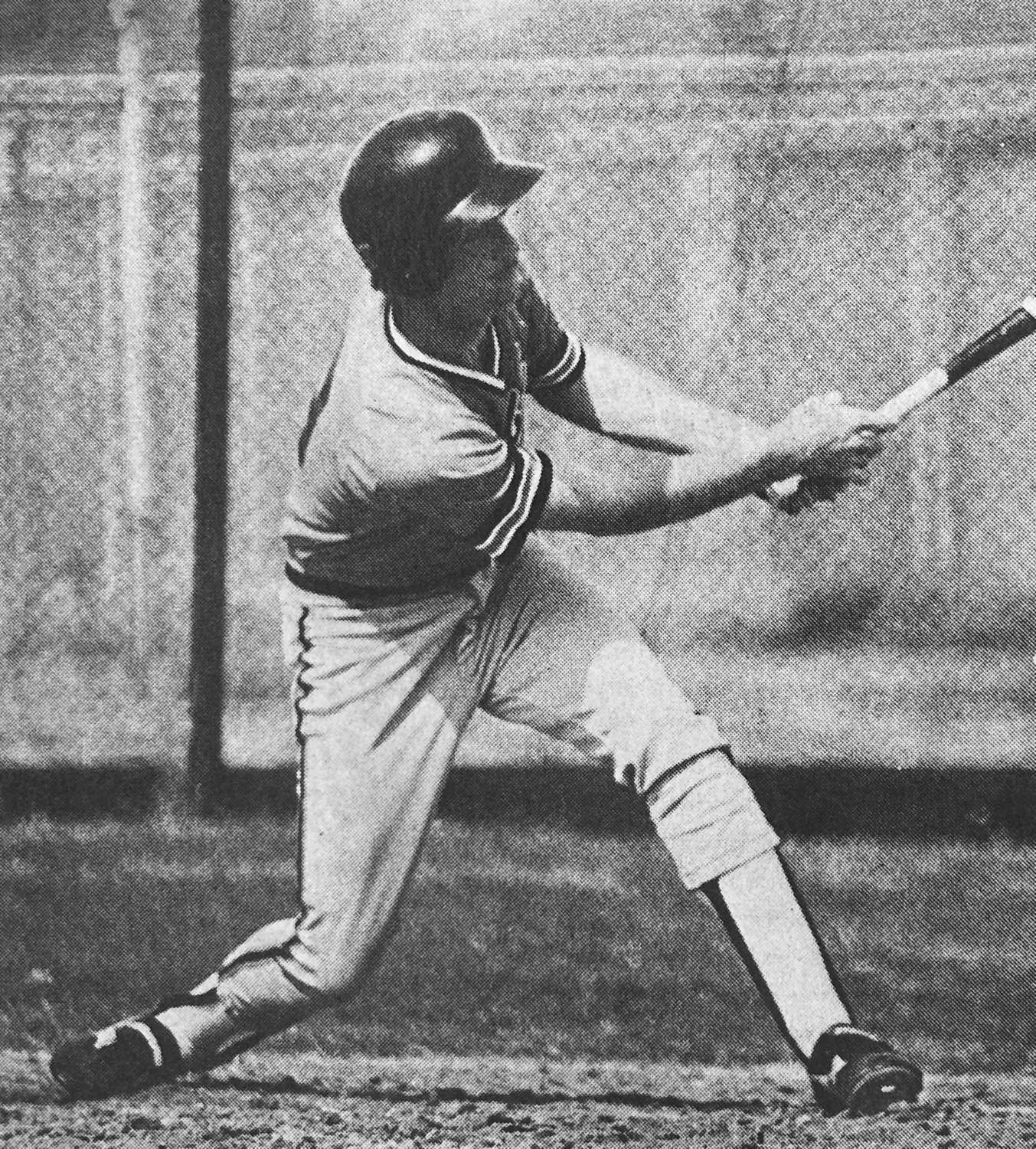 Former Campbell standout Henry Rochelle is shown swinging at a pitch during the team's historic win over Radford in 1985. Rochelle finished with an NCAA-record five home runs.