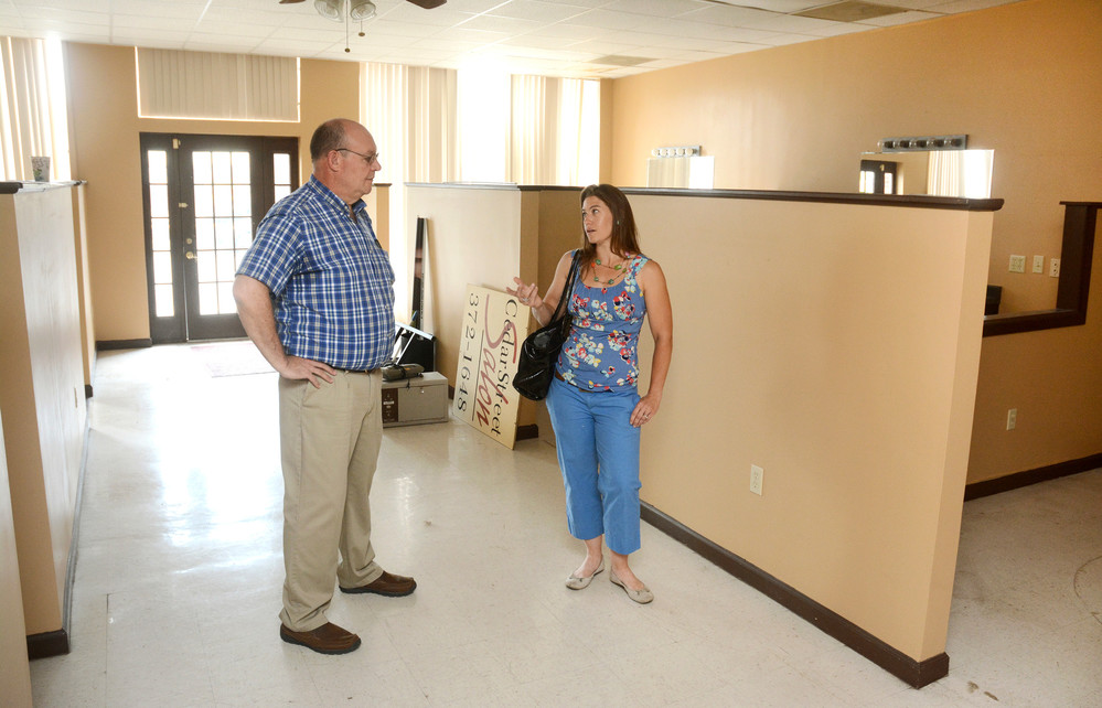 Renovations on the space at 114 N. Cedar St. will be underway soon for the Biz Foundry. Jeff Brown, Biz Foundry president, speaks with Serina Wells of WellsBuiltHomes inside the space.