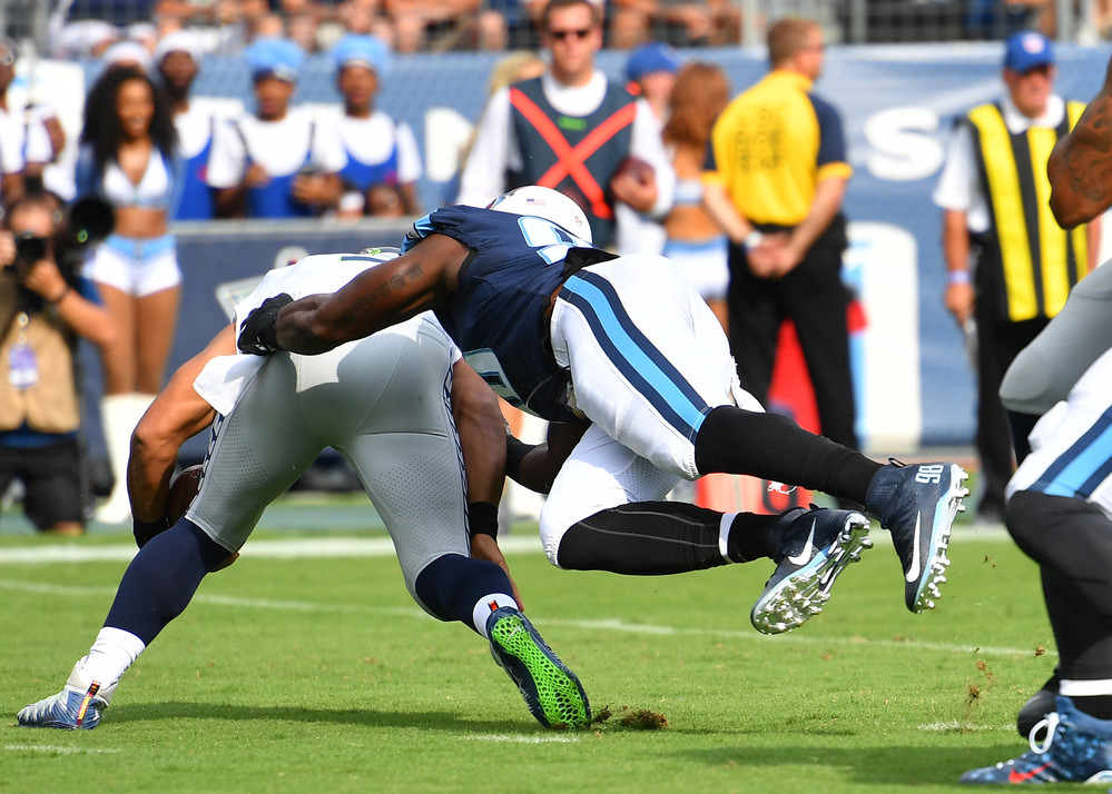 From the first half of the Seattle Seahawks at Tennessee Titans NFL football game on Sept. 24, 2017, at Nissan Stadium in Nashville, Tenn. (Photo by Lee Walls)