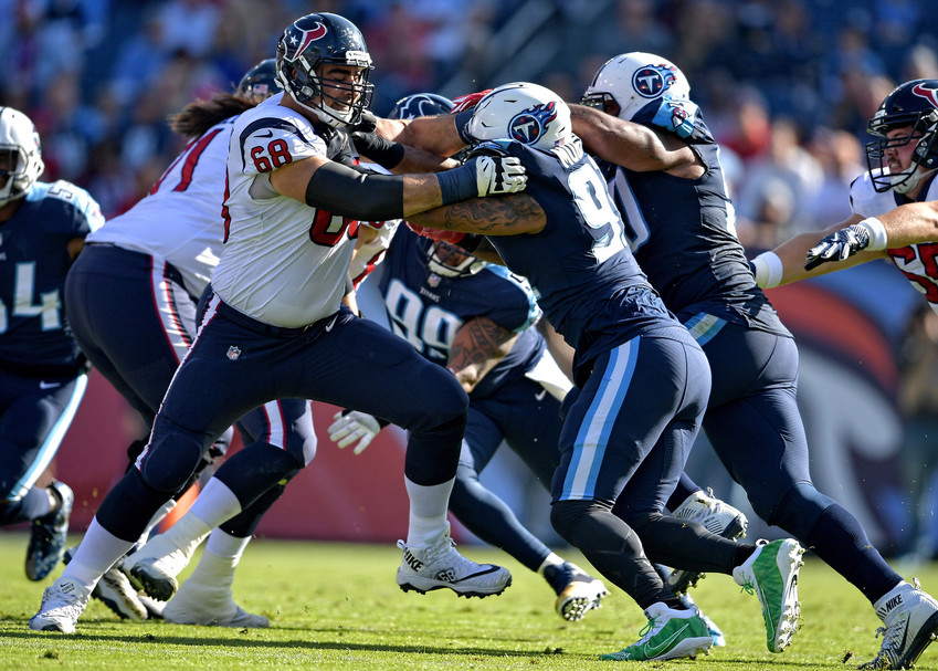 From the first half of the NFL football game between the Tennessee Titans and the Houston Texans on Dec. 3, 2017, at Nissan Stadium in Nashville, Tenn. The Titans won 24-13. (Photo by Lee Walls)