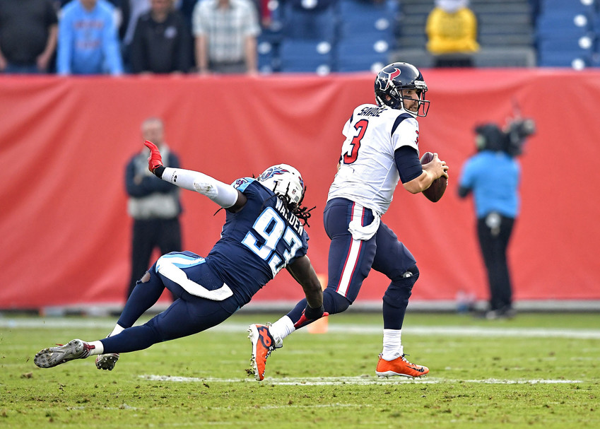 From the second half of the NFL football game between the Tennessee Titans and the Houston Texans on Dec. 3, 2017, at Nissan Stadium in Nashville, Tenn. The Titans won 24-13. (Photo by Lee Walls)