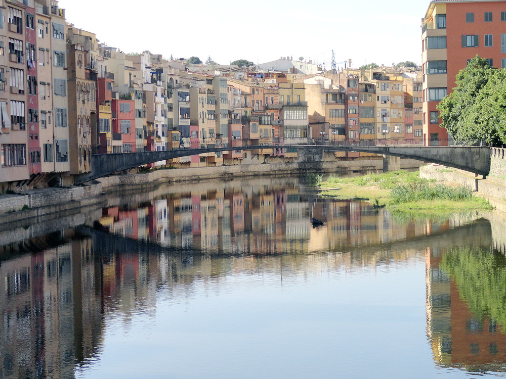 Girona in Spain has many river-side properties still maintaining the old Spanish look.