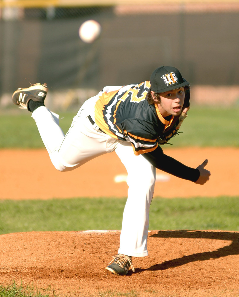 Upperman starting pitcher Winston Cannon throws to the plate during ...