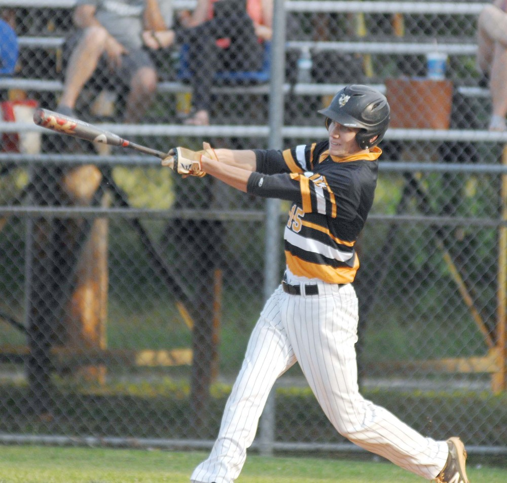 Upperman's Todd Stanton collects a hit in the first inning of the Bees ...