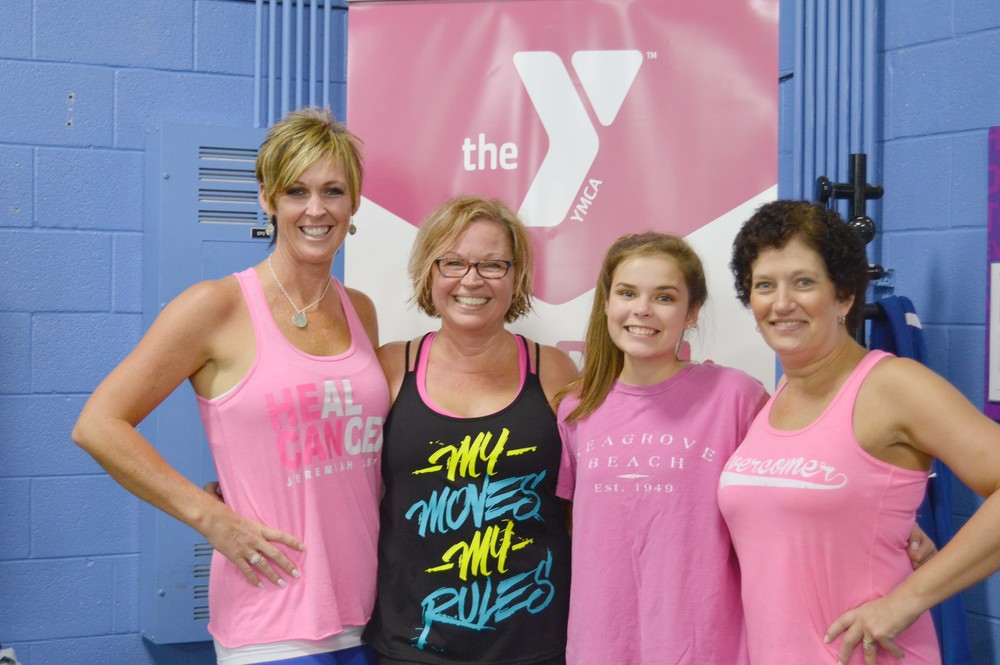 Upper Cumberland Race for the Cure New Balance Survivor Colleen Flanders, right, found support during her battle with breast cancer from, from left, Jami Cherry, survivor; Emily Loy, survivor; and daughter Devin Flanders. .