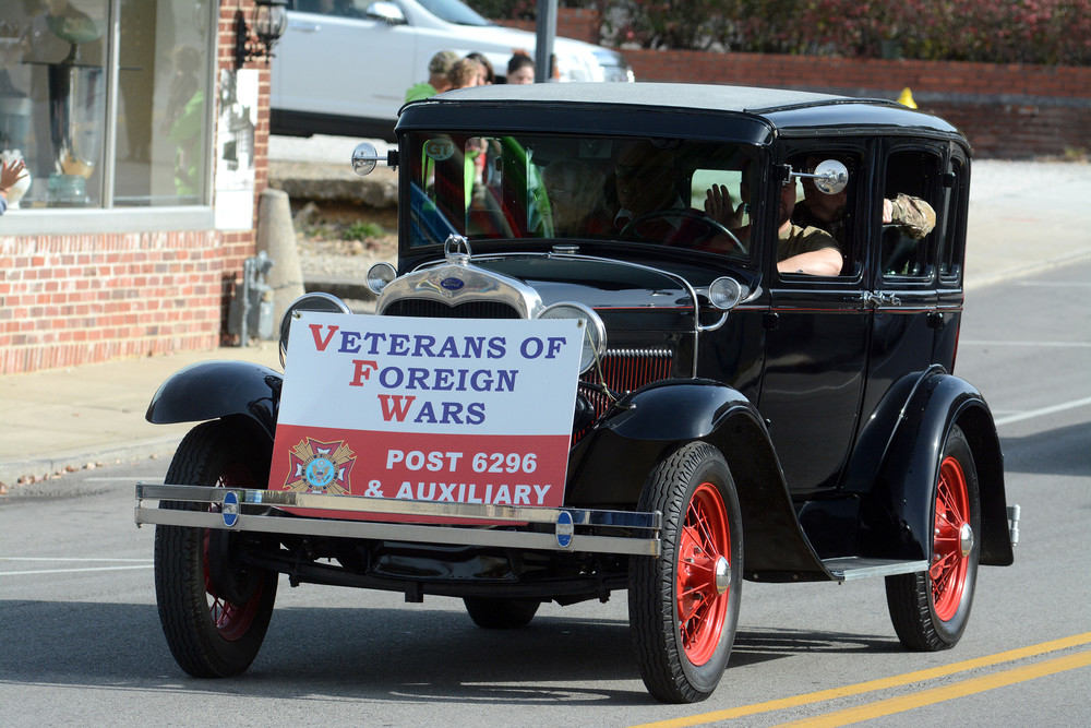 This old Ford car carried members of the VFW Post 6296 in Friday's Veterans Day parade.