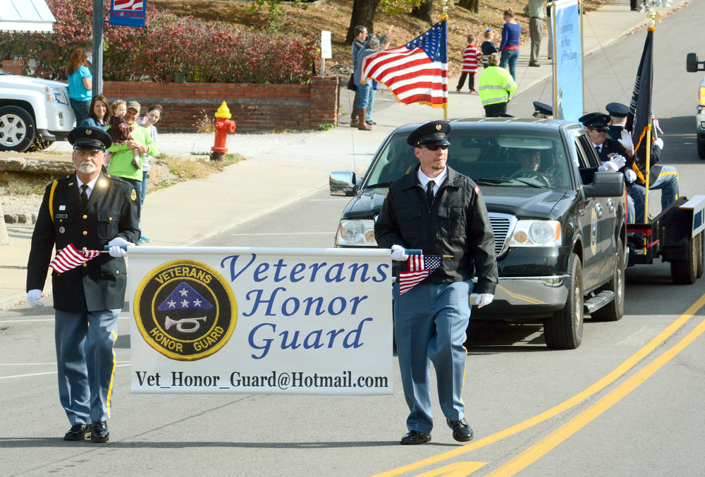 Members of the Veterans Honor Guard were represented in Friday's Veterans Day parade.