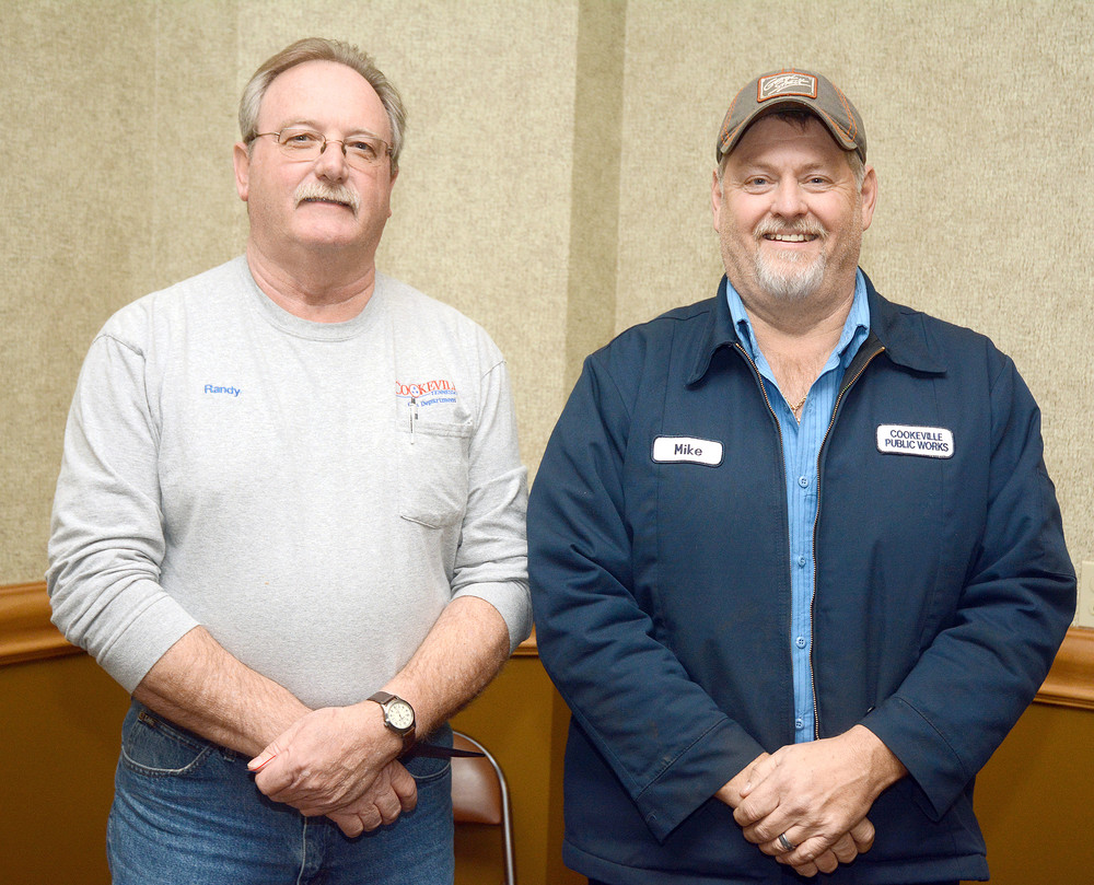 Cookeville employees with 35 years of service are Randy Hensley, gas department; and Mike Sullivan, public works.