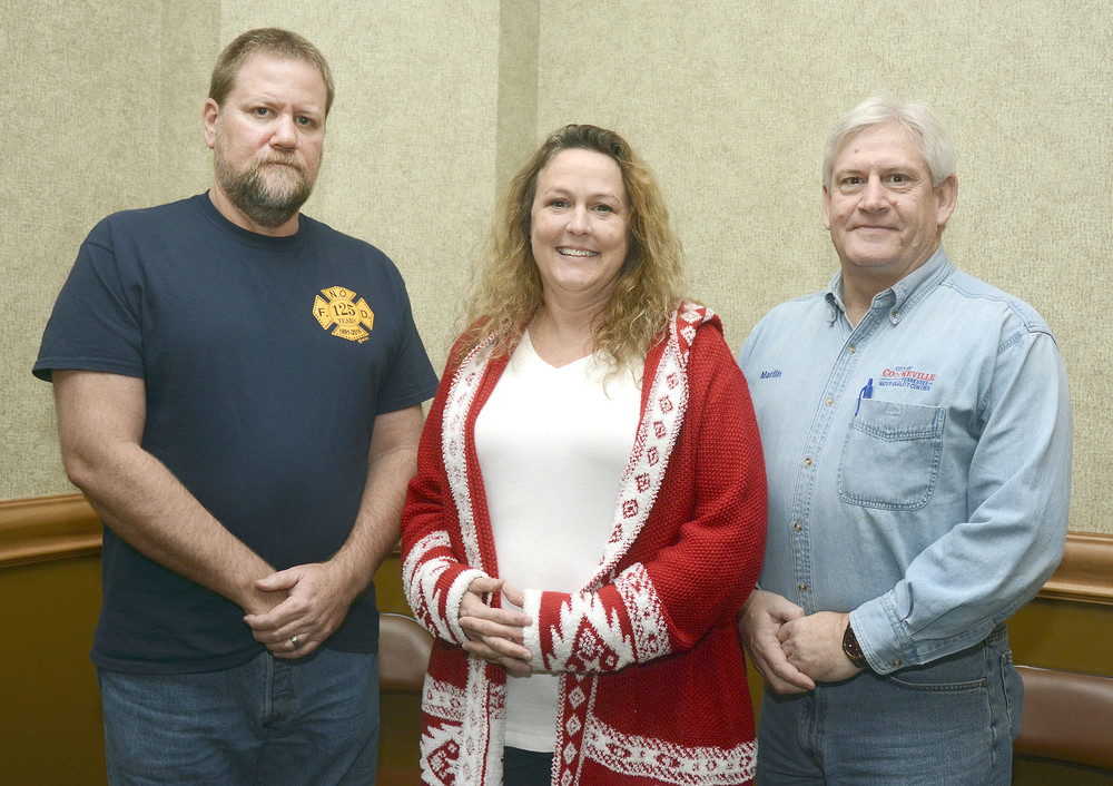 Cookeville employees with 25 years of service are Paul Parrish, fire department; Sheila Julian, police department; and Marlin Haggard, water department.