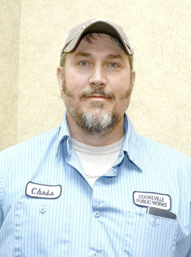 Cookeville Public Works employee Chris Allison was recognized for 15 years of service to the city.