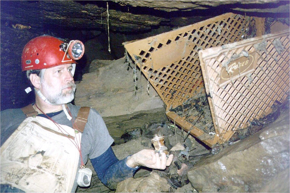 Retired TTU geology professor Ric Finch captured this photo of Jerrell Killian years ago in the Tires-to-Spare Cave in Cookeville.