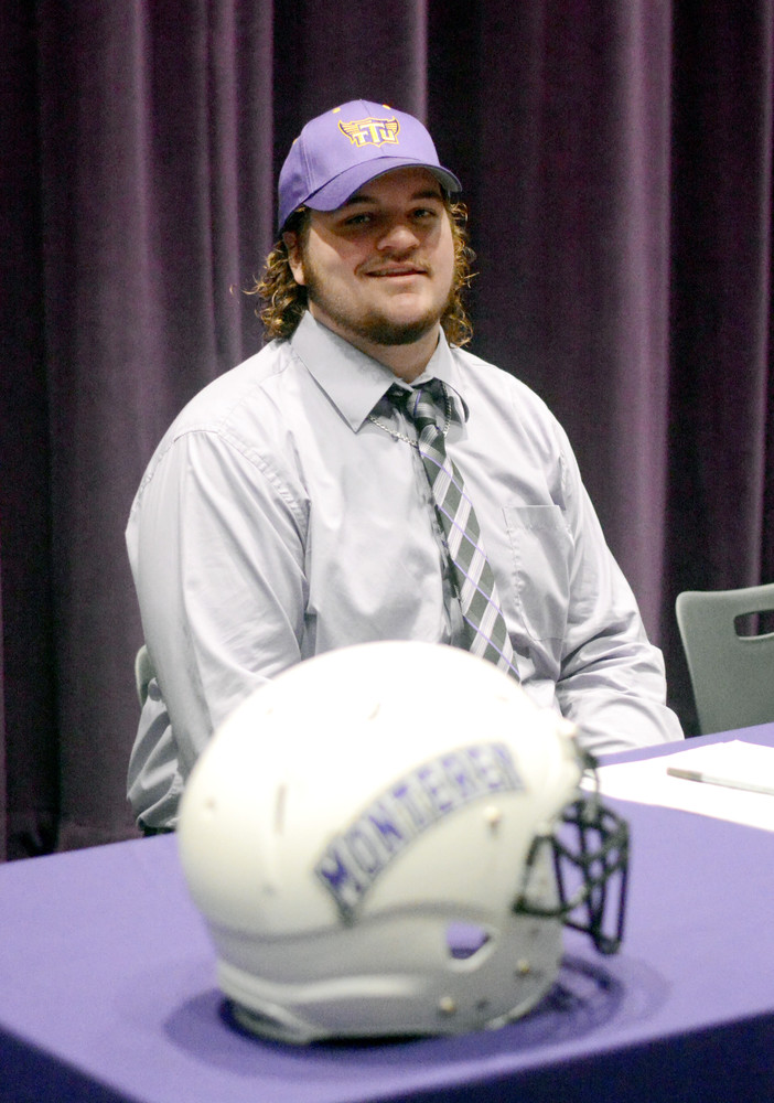 Monterey's Spencer Norrod waits to sign with Tennessee Tech University on Wednesday.