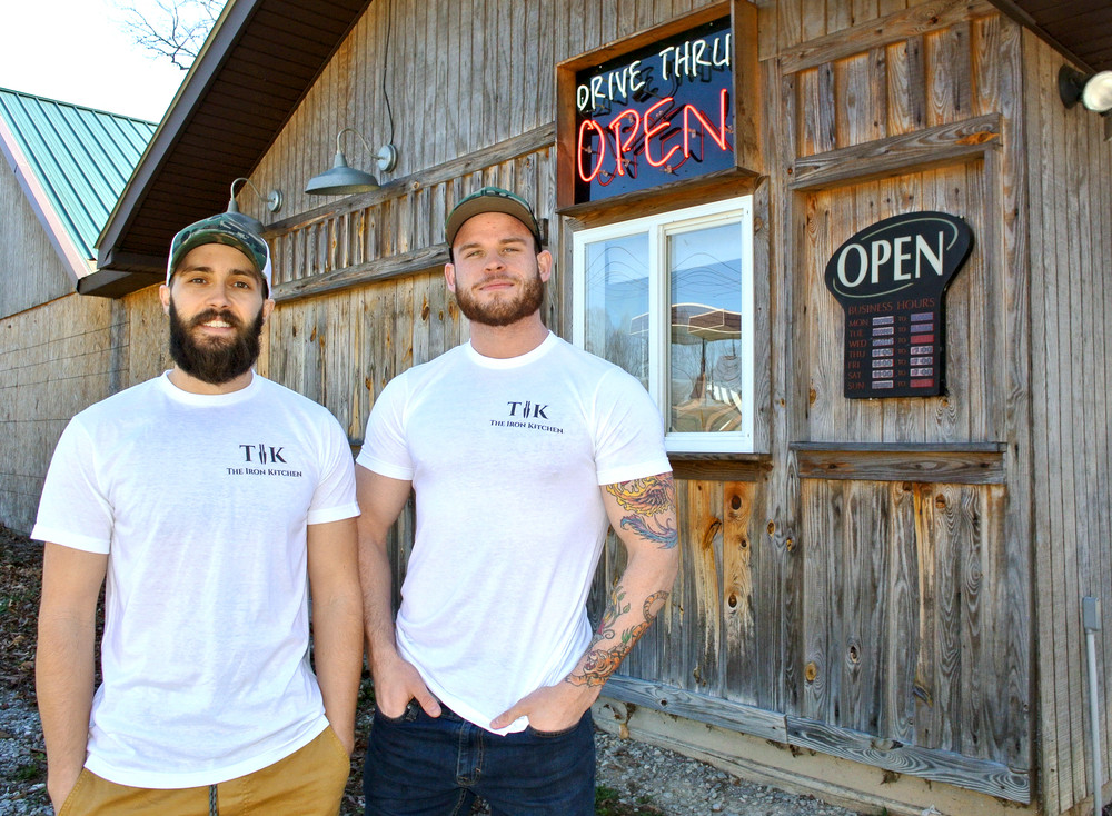 Kyle Price and Jaden Flynn, co-owners of the Iron Kitchen, show off the place at 5730 Dodson Branch Road.