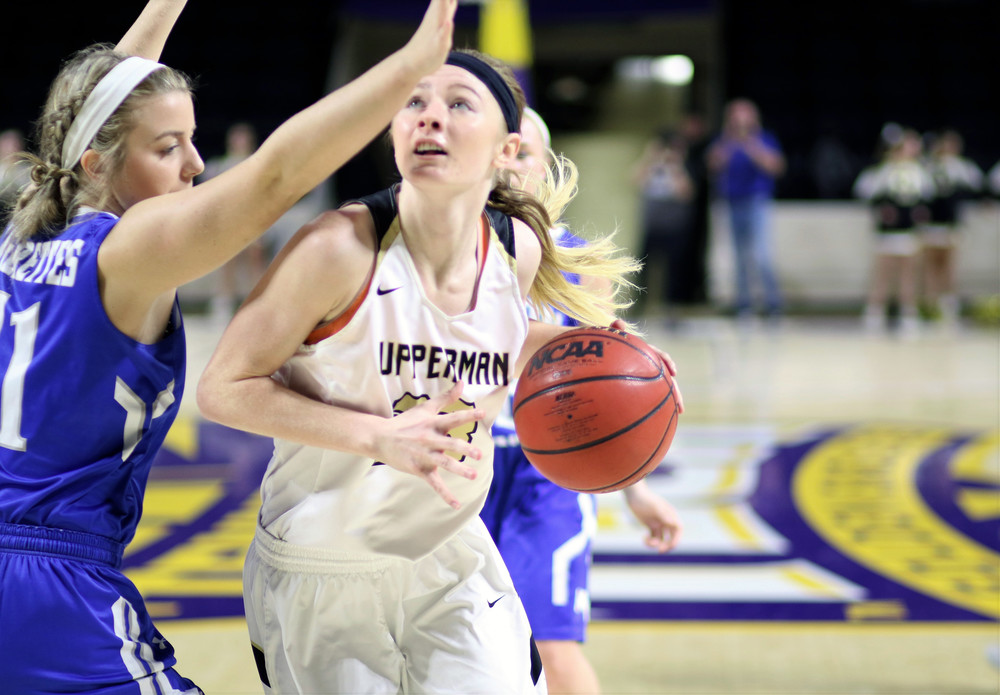 Upperman High School senior Abby Greenwood was one of 15 players named to the all-state basketball team.