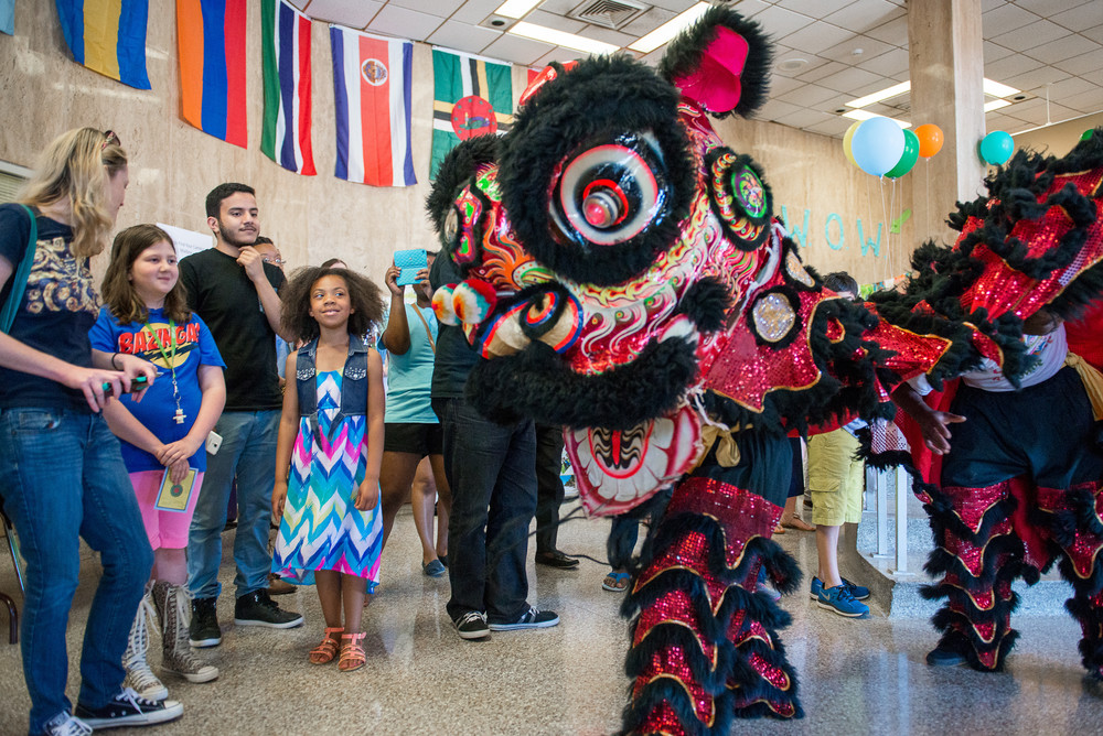 Spectators enjoy the Chinese Lion dance at last year's Window on the World international festival at Tennessee Tech.
