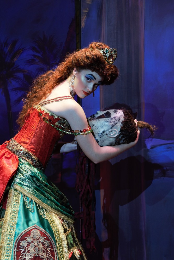 "Ella Frost, who portrays the diva, Carlotta, in the Hannibal scene from ""Phantom of the Opera."""