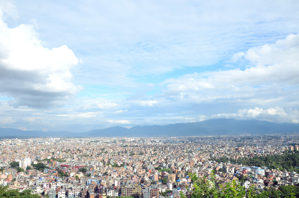 View of Kathmandu from Swayambhu.
