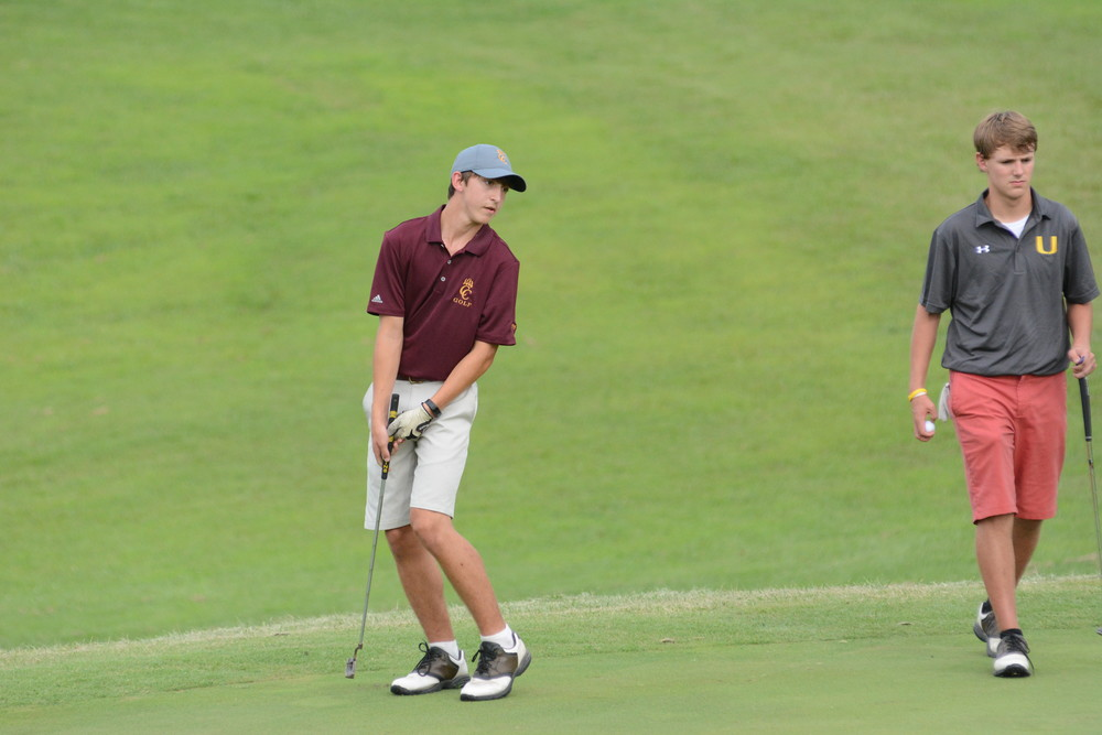 Cannon County's Brad Vickers couldn't believe he missed a put Tuesday in a four-way match at Southern Hills.
