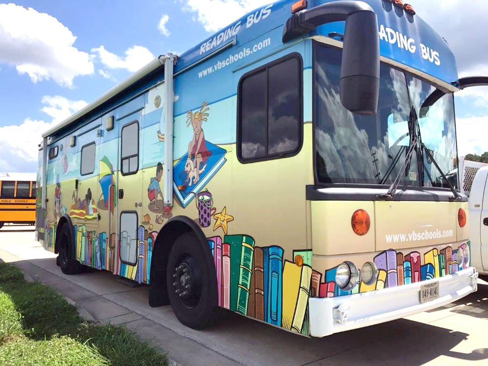 Putnam County school officials are working to create a mobile library like this one in Virginia Beach, Virginia.