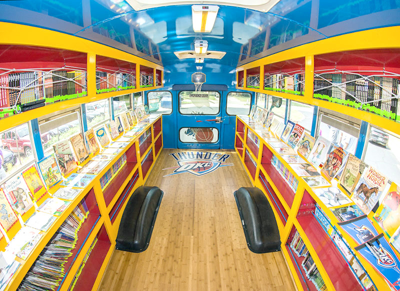 The inside of a mobile library in Virginia Beach, Virginia is providing inspiration for Putnam County officials hoping to do the same thing with an out-of-service school bus.