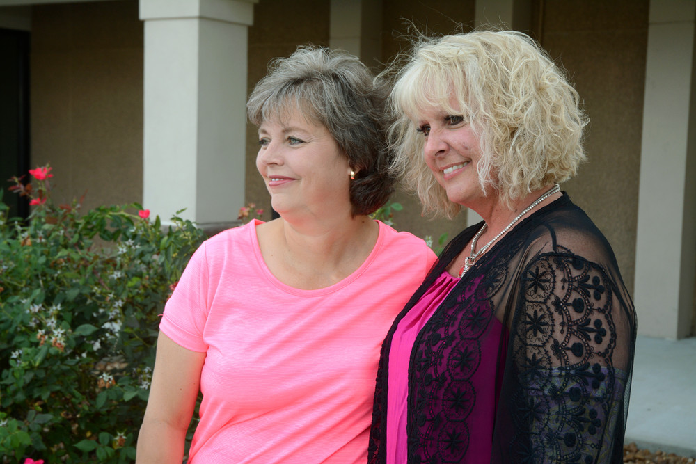 Drenia Wilson, left, and April Jones are the co-survivors of the upcoming Komen Race for the Cure.