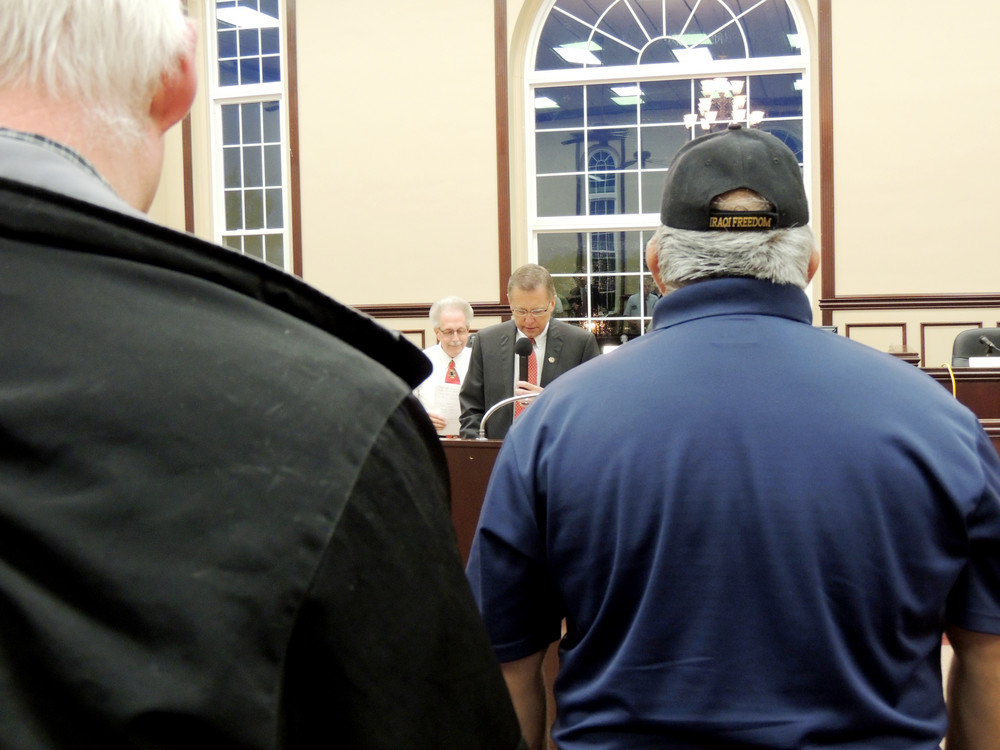 County Executive Randy Porter opened the annual 9/11 Reflect and Remember memorial ceremony Monday night at the Putnam County courthouse.
