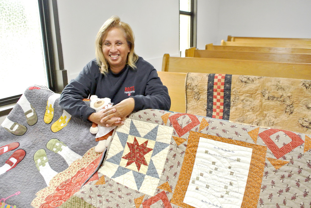 Peggy Barrociere with a few of her creations that will be set up at Burton's Chapel United Methodist Church.