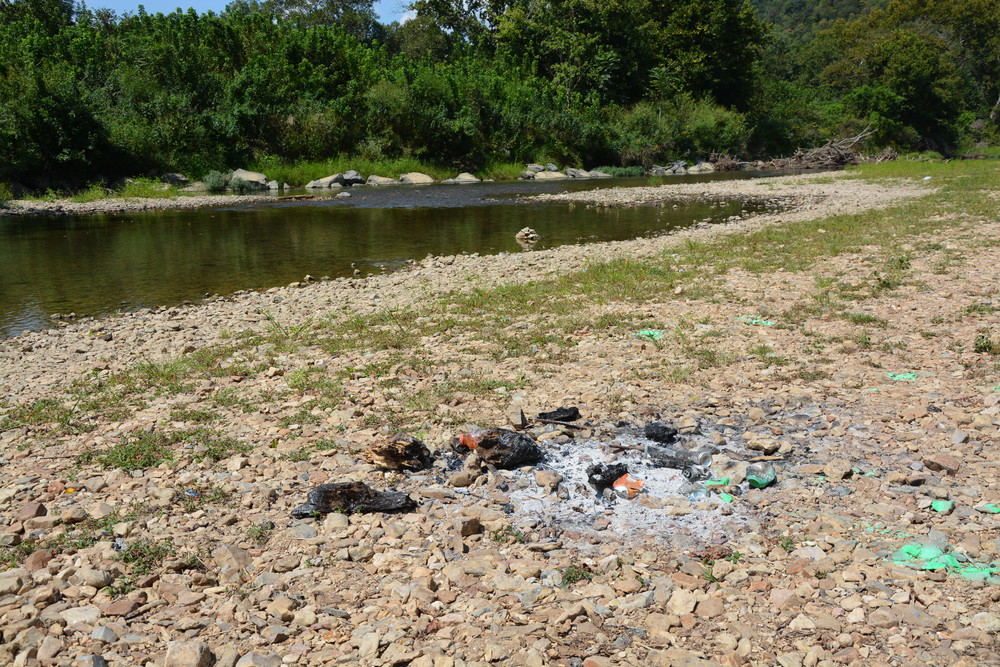 The litter left over from a campfire at The Boils WMA is not only unsightly, but can harm the critters who live there.