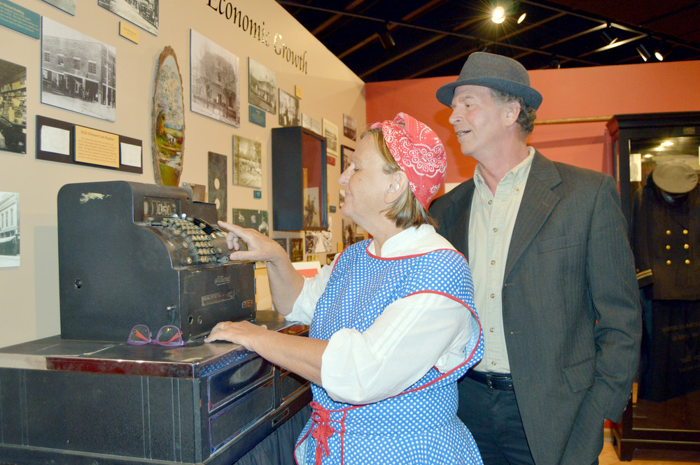 Julie and Don Bohannon play Monterey citizens in Cookeville's Night at the Museums.