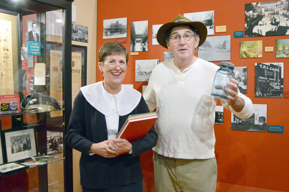 Jan Presley plays a Baxter Seminary teacher and Dwight Henry a Waterloo moonshiner in Cookeville's Night at the Museums.