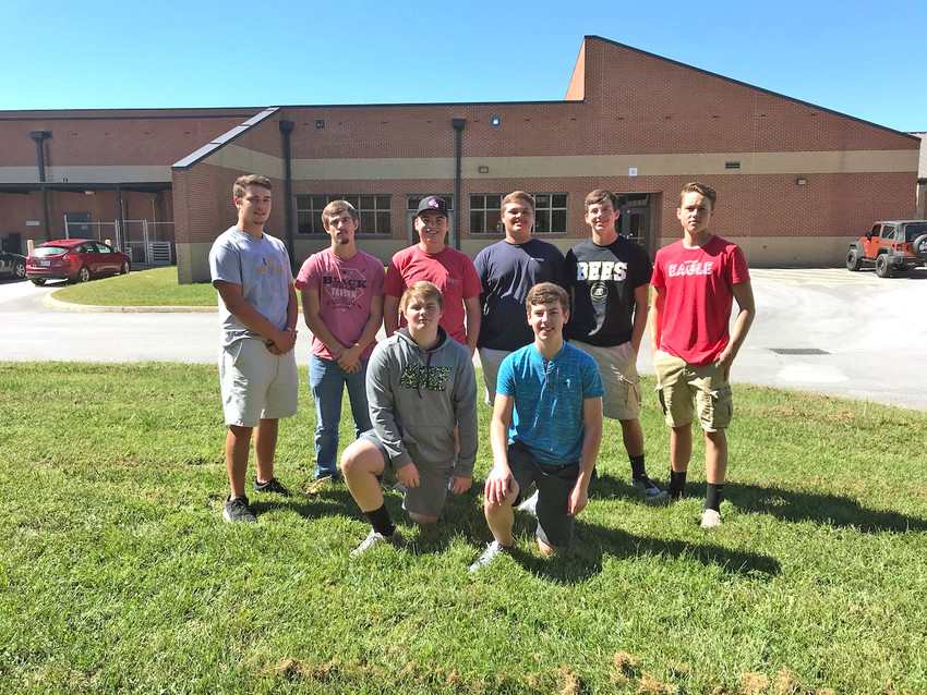 The Upperman High School fishing team is in its first year as a program at the school. The sport is not yet sponsored by the Tennessee Secondary School Athletic Association. The team includes, front row, from left: Levi Wilken, Elliott Lee; back row: Luke Harris, Dristan Jared, Keegan Fleming, Brady LaFever, Carter Walker and Colton Elrod.