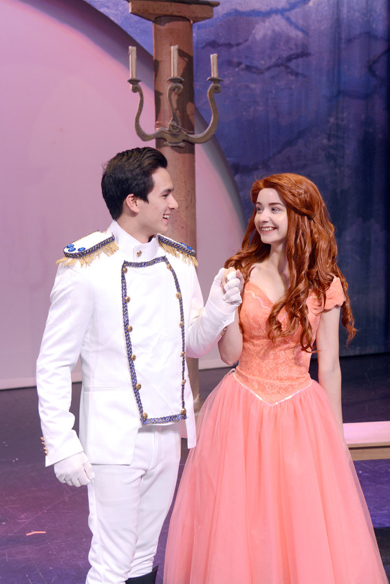 "Prince Eric (Andrew Agbunag) asks Ariel (Sammy McKenzie) to dance on her new feet in the Cookeville Children's Theatre production of Disney's ""The Little Mermaid,"" which opens Friday at Cookeville Performing Arts Center."