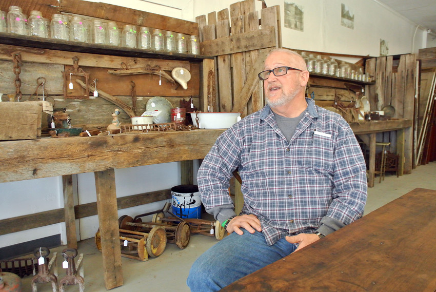 John Owen talks about his passion for architectural salvage in his new shop, Dry Levee Architectural Salvage.
