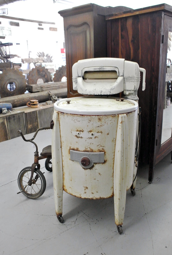 "This is one of the first washing ""machines."""