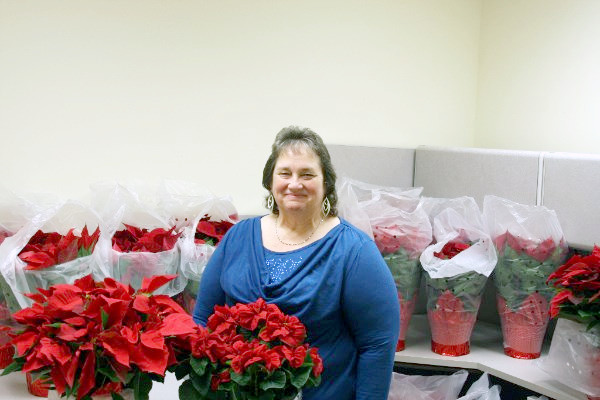 The non-profit group Court Appointed Special Advocate or CASA, which provides advocates for abused/neglected children in Cumberland, Overton, Putnam and Smith counties, is selling poinsettias. UCHRA CASA Program Coordinator Darlene Jones is pictured with the poinsettias for sale for $25 each or $22 each for more than one. To order, call 520-9542 or 265-6471 by Nov. 13. Pick up is Nov. 18.