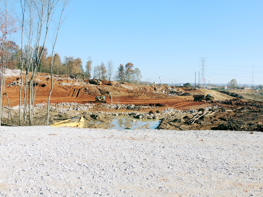 A lot of progress has been made on clearing and leveling the land for the Shoppes at Eagle Point development.